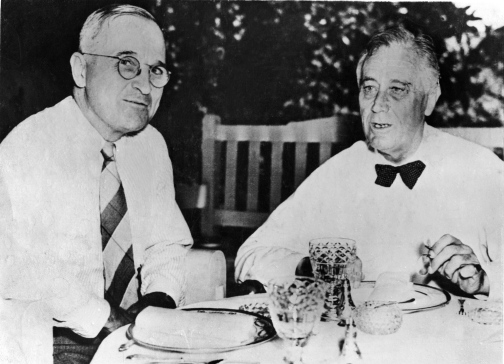 Harry Truman And Franklin Roosevelt In 1945